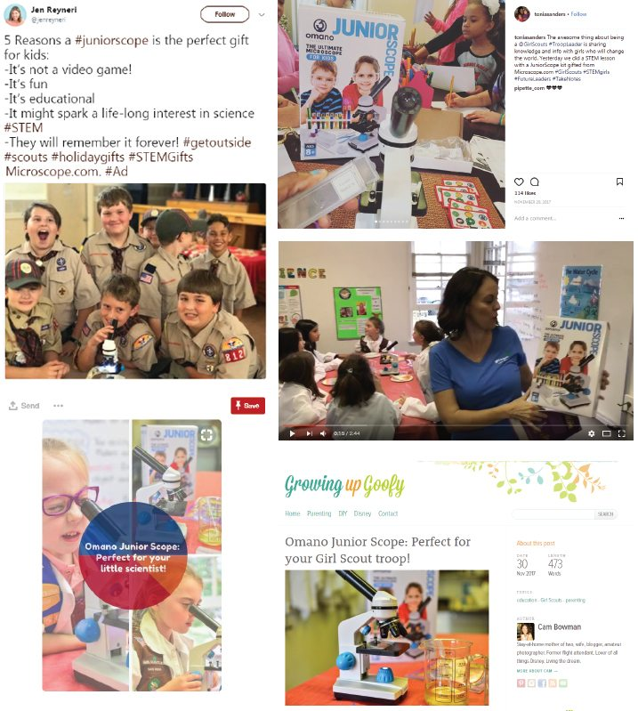 Engaging Boy Scouts and Girl Scouts to Promote STEM Products
