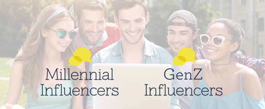 Millennial Influencers and Gen Z Influencers