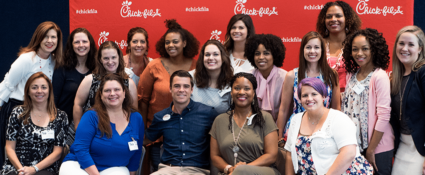 Chick-fil-A Moms Panel members with Mark Cathy