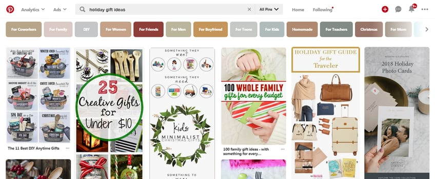 Holiday Pinterest Marketing