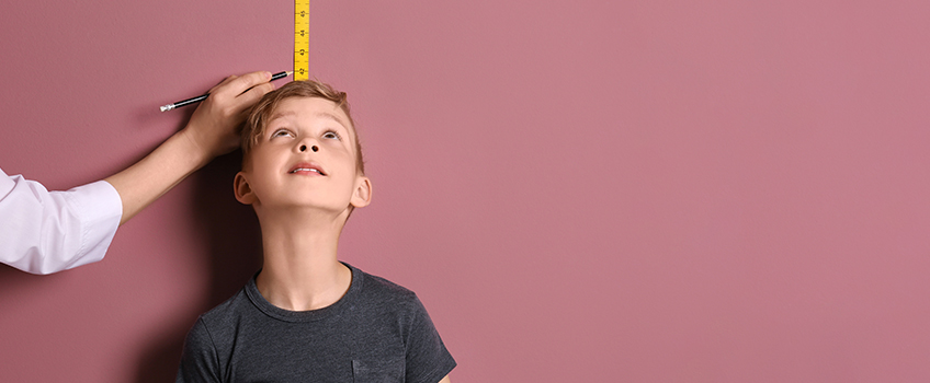 Child being measured