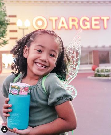 Little girl outside of Target