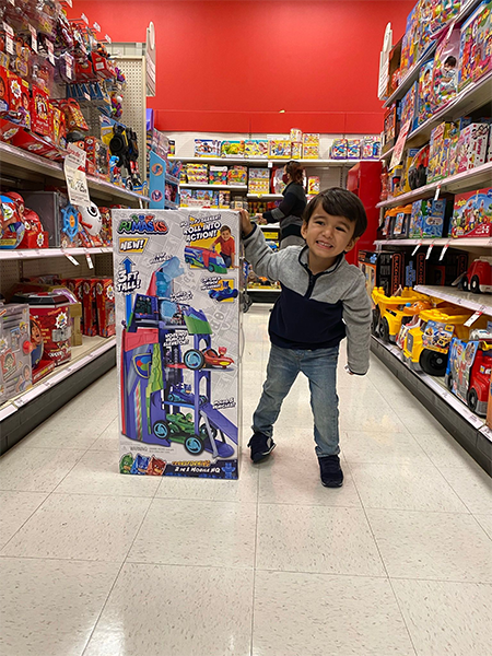 Child in Toy Isle